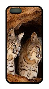 iPhone 5S Case, iPhone 5S Cases -Cat ID23 TPU Rubber Soft Case Back Cover for iPhone 5/5S ¨CBlack