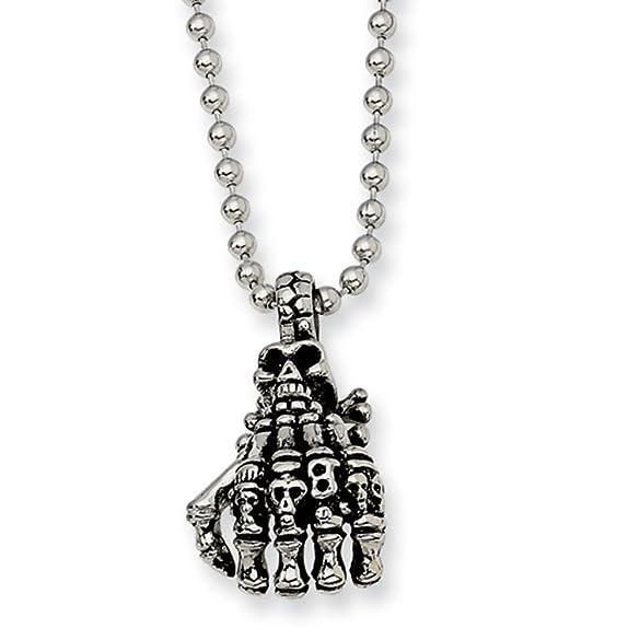 Skull Hand Necklace Jewelery