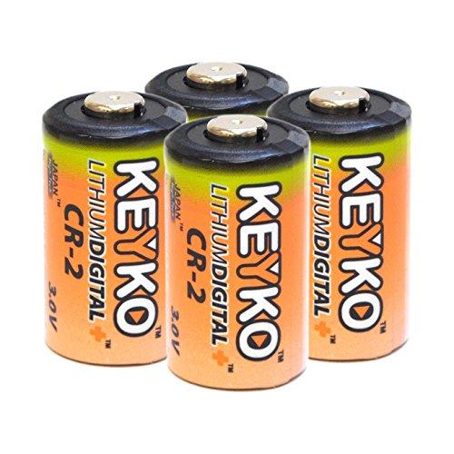 CR2 3v Lithium Genuine KEYKO ® Replacement Battery- 4 pcs Pack BULK (Cr2 3v Lithium Battery)