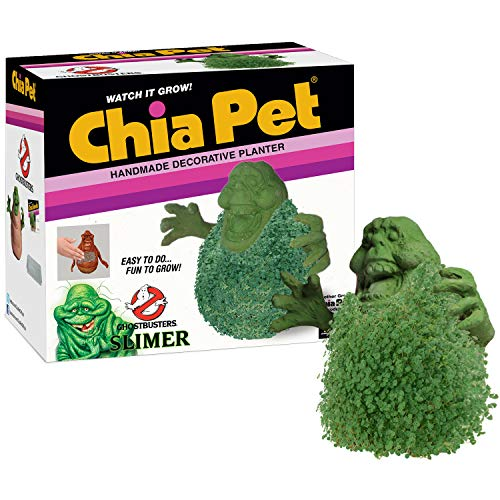 Chia Pet Ghostbusters - Slimer Decorative Pottery Planter, Easy to Do and Fun to Grow, Novelty Gift, Perfect for Any Occasion