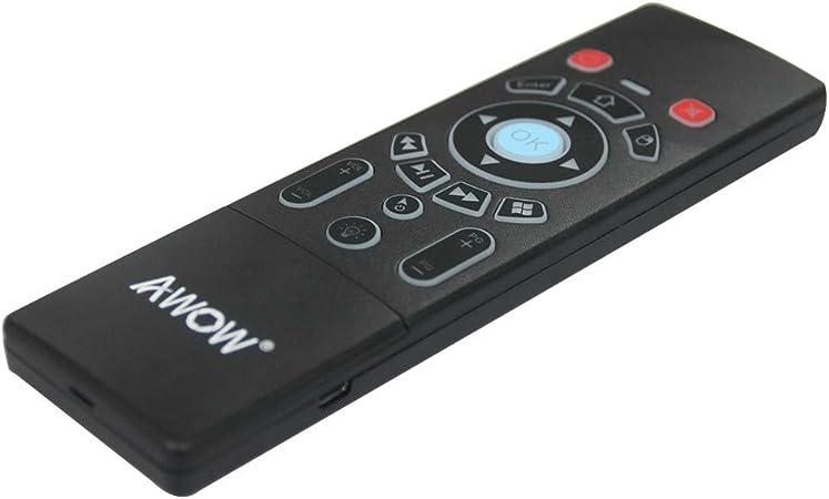 AWOW Multifunci¨®n 2.4G Air Mouse Mini Teclado inal¨¢mbrico ...