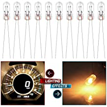 cciyu 10x Mini Bulbs Lamps Replacement fit for GM Speedometer Cluster Backlight Lighting 12v-14v 95ma (10pcs)