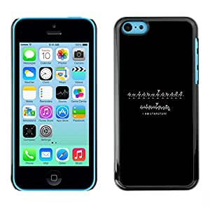 ROKK CASES / Apple Iphone 5C / I AM STARSTUFF / Delgado Negro Plástico caso cubierta Shell Armor Funda Case Cover