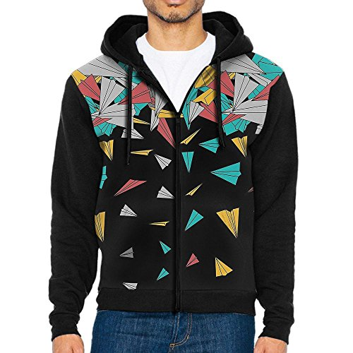 Decagon Print Jacket (3D Graphic Sweatshirts For Men Flying Paper Planes Fashion Zip Up Jacket)