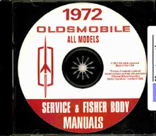1972 OLDSMOBILE FACTORY REPAIR SHOP & SERVICE MANUAL CD - INCLUDES: F-85, Cutlass, Cutlass Supreme, Vista-Cruiser, Delta 88 (Eighty-Eight), Delta Royale 88, Delta Cruiser 88, Ninety Eight, Ninety Eight Luxury, Toronado, Toronado Deluxe OLDS 72