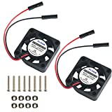 dc fan 5v - MakerFocus 2pcs Raspberry Pi DC Brushless Cooling Fan Heatsink Cooler Radiator Connector Separating One-to-Two Interface 3.3V 5V for Raspberry Pi 2/Pi 3/3B+ and Pi Zero/Zero W or Other Robot Project