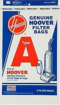 Hoover 4010001A Type A Vacuum Bags 9 Bags SYNCHKG049959