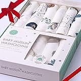 Nightingale Muslin Bamboo Baby Washcloths - Soft