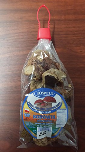 Lowell Foods Dried  Porcini Mushrooms, Wholecaps, 2.47 Ounce