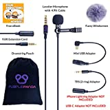 Purple Panda Lavalier Lapel Microphone Kit