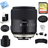 Tamron SP 45mm f/1.8 Di VC USD Lens for Nikon Mount (AFF013N-700) with TAP-In Console Lens Accessory, 64GB Memory & Memory Card Reader, Card Wallet, Cleaning Kit and More