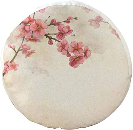 Amazon.com: DRAGON SONIC Tatami - Cojín redondo de lino ...