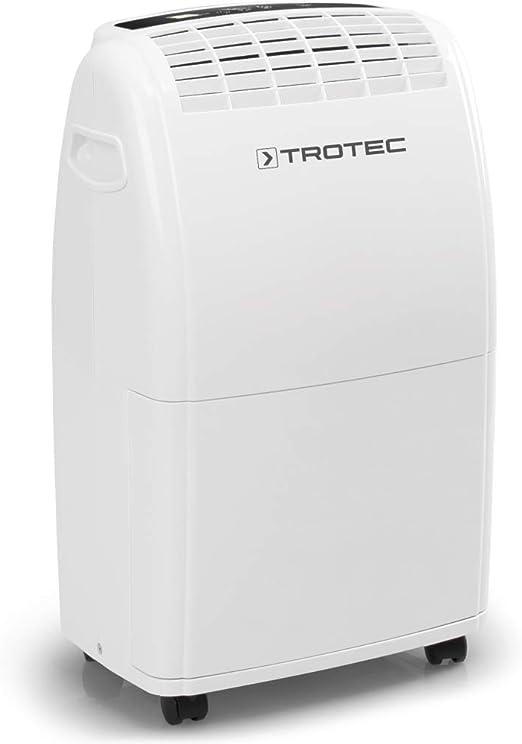 TROTEC Deshumidificador eléctrico TTK 75 E, 20L/24hL, Depósito 3L, Portátil, Para Habitaciones de hasta 45m²/110m³, Filtro de Aire, Silencioso, 320 W, Auto-Apagado ...
