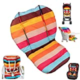 Twoworld Baby Stroller/Car / High Chair Seat Cushion Liner Mat Pad Cover Protector Rainbow Striped Breathable Water Resistant