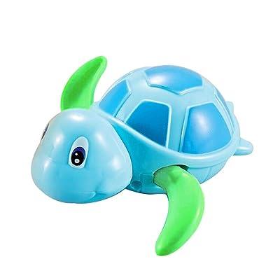 Toy Shimigy Baby Bath Swimming Bath Pool Cute Wind Up Turtle Animal Bath (Blue): Clothing