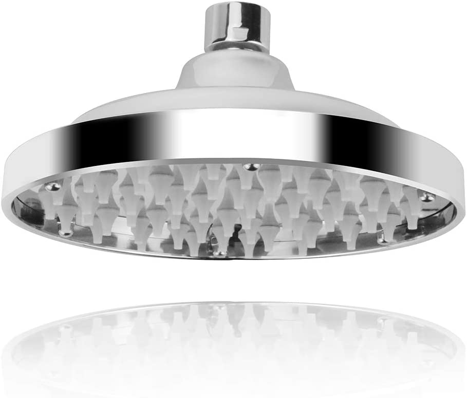 Alcachofa de ducha redonda de acero inoxidable antical pulido con espejo di/ámetro de 150 mm