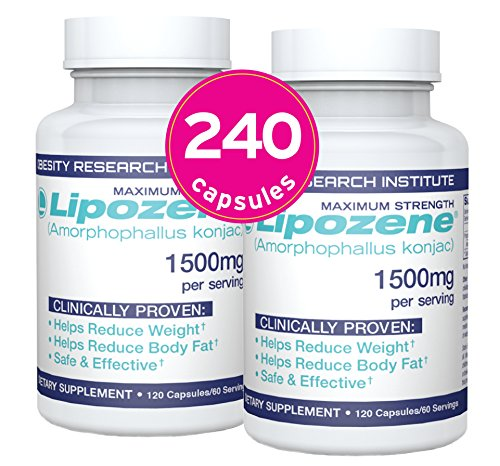 Lipozene Weight Loss Pills (2 Bottles / 120 Count Mega Bottle Bundle)