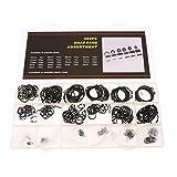 gazechimp 300 Pieces External C-Clips Retaining Ring Snap Rings Assortment Kit 18 Size