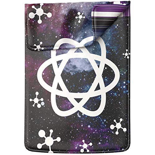 Lex Altern Tablet Sleeve Case for iPad Pro 12.9 11 10.5 9.7 inch Mini 5 4 3 2 1 Air 2 2019 2018 2017 5th 6th 3rd Gen Space Science White Galaxy Purple Atom Model Nerd Shockproof Protective Lightweight ()