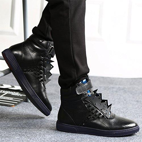 Veribuy Hoge Top Sneakers Casual Schoenen Coole Klinknagel Schoenen Voor Heren