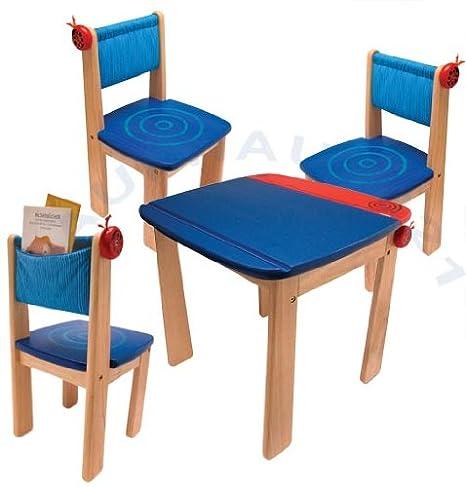 Lätt Mariquita Azul 1 mesa infantil 3 niños niños Sillas Muebles ...