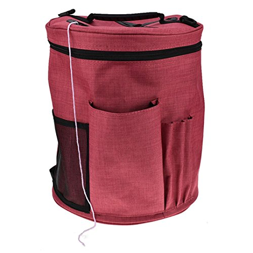 Clearance Deal! Hot Sale! Cloth Bag Storage, Fitfulvan Oxford Cloth Bag Lightweight Portable Yarn Crochet Thread Storage Organizer Tote (A)