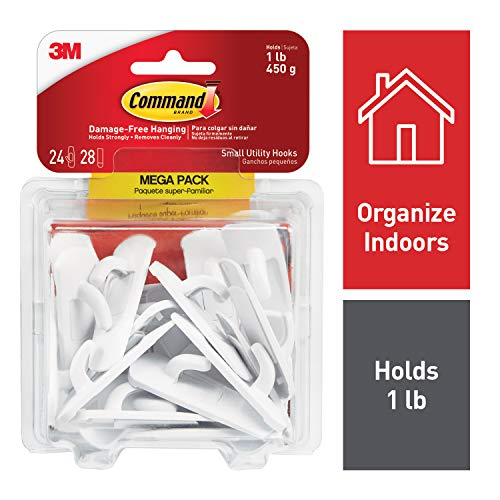 Command Utility Hooks, White, 24 hooks, 28 strips (17002-MPES) from Command