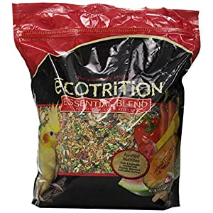 Ecotrition Essential Blend Food For Cockatiels, 5 Pounds, Resealable Bag 95