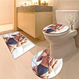 MikiDa Large Contour Mat cropped image of beautiful passionate couple having sex on bed man Soft Non-Slip Water