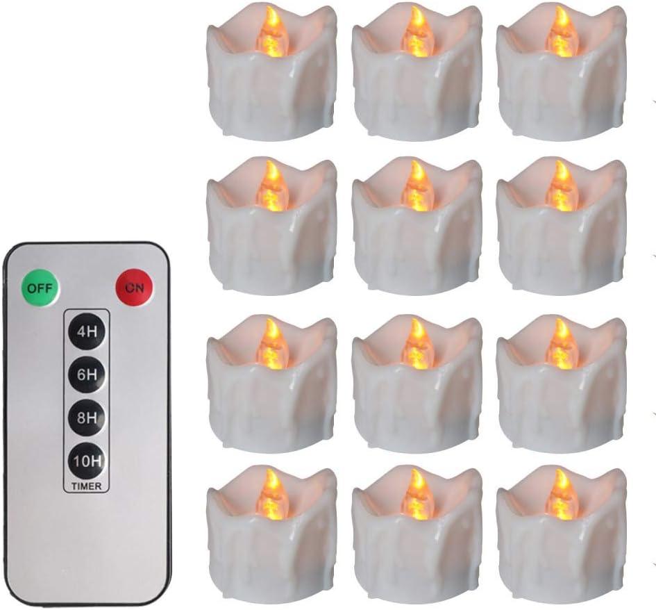 wangZJ lágrimas de destello amarillas/control remoto temporización luz de vela electrónica/joyería de boda/puntiaguda/decoración de Halloween/flash amarillo