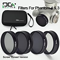 gouduoduo2018 PGY DJI Phantom 4 Phantom 3 Lens Filter Drone Quadcopter MCUV / CPL / ND4 / ND8 / ND16 / ND2-400 / ND8&CPL Camera Lens Filter