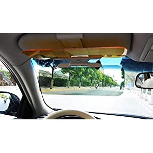 Day Night Car Visor Extender Car Sun Visor Blocker Protect Eyes From Direct Sunlight & Night Anti Glare For Better Driver See Through Vision Plus Auto Vehicle Dashboard Cell Phone Holder