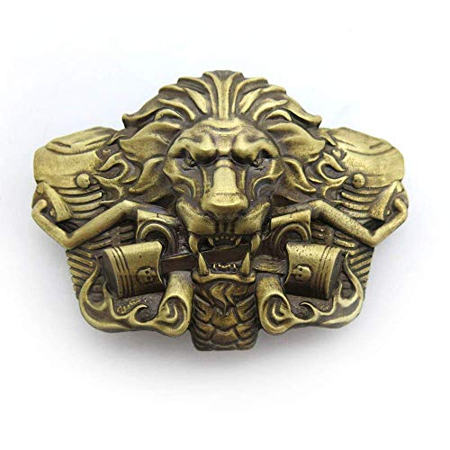 "Biker belt buckle /""BURNING LION/"" Lion belt buckle Gift for biker"