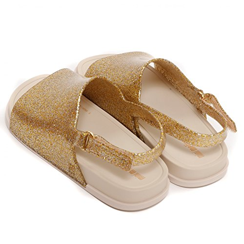 Sandal Glitter Gold Glitter Gold Beach Mini Slide Shoes Melissa wT8II