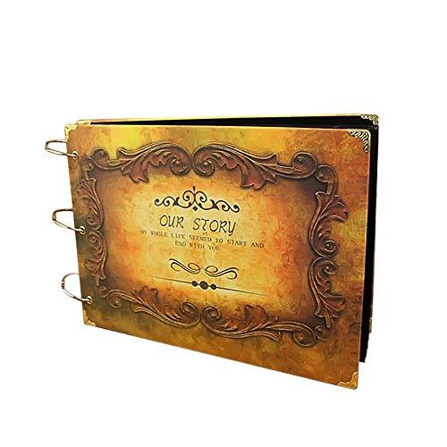 Gosear Libro de Chatarra de Vintage de Cartón/Cartulina álbum de Bricolaje Cartulina/Álbumes de Fotos de Grabación de...