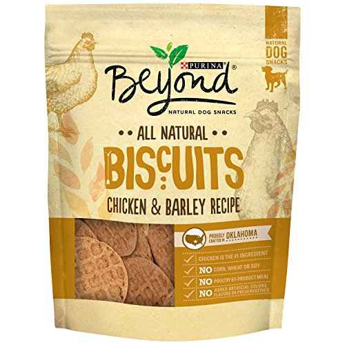 - Purina Beyond Natural Limited Ingredient Biscuits, Chicken & Barley Recipe Dog Treats, 25 Oz Bag