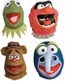 The Muppets Group Overhead Latex Costume Masks Set of 4