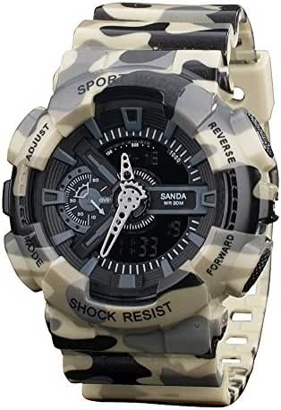 Boys Watch Analog Digital Quartz Electronic Sport Watch Chronograph Automatic Wristwatches Yellow