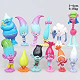 Set of 12pcs DreamWorks Trolls Poppy Doll Mini Figures Collectable Doll Choose Character Cake toppers