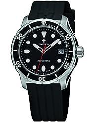 Swiza Womens WAT.0431.1003 Tetis Analog Display Swiss Quartz Black Watch