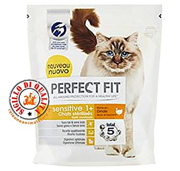 Perfect Fit Sensitive 1 + con pavo 400 g comida para gatos seco sterilizzati: Amazon.es: Productos para mascotas