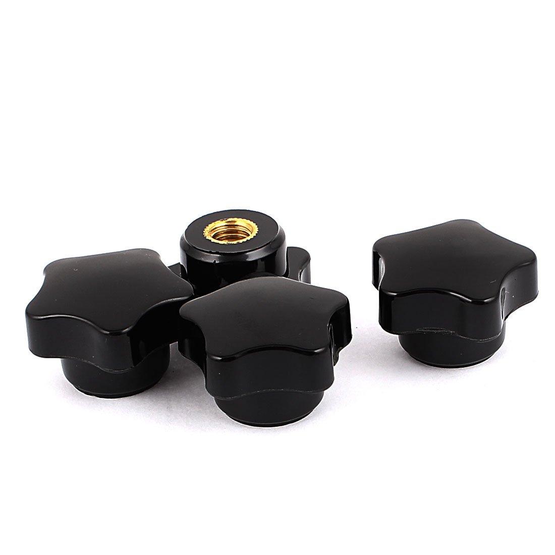 sourcingmap/® 4 piezas de pl/ástico Estrella en forma de cabeza M8 x 32 mm de di/ámetro de la rosca del agujero mando de sujeci/ón