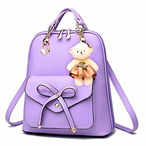 MSZYZ Solo bolsas de hombro doble bolsa de viaje Mochila bolsa, púrpura