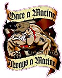 united states marine corps decal - Once a Marine Always A Marine XL Large Decal 10
