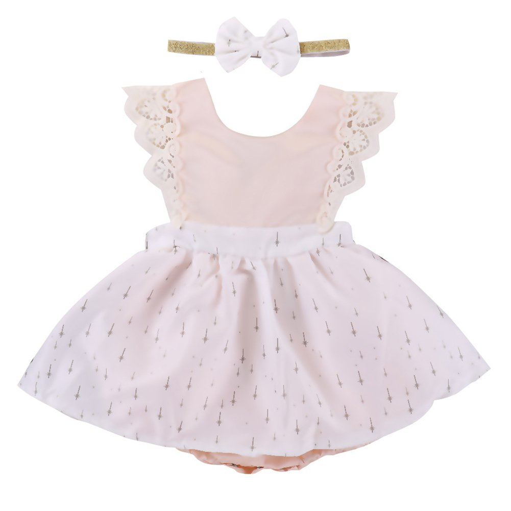 Little Big Sister Girl Flower Romper Dress Headband Clothes Outfit Family Match