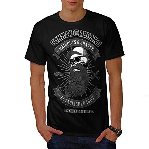 Commander Beard USA Haircuts Men NEW M T-shirt | Wellcoda (50s Haircuts)