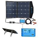 ACOPOWER 12V 70 Watt Foldable Solar Panel Kit; Portable Solar...