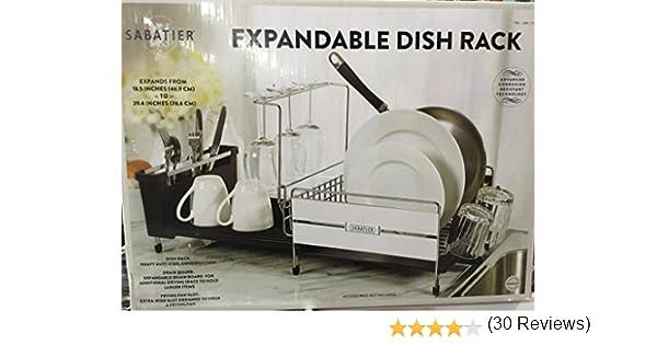 Amazon Sabatier Expandable Dish Drying Rack 40X40Inch Home Best Sabatier Expandable Dish Rack With Soft Touch Coating