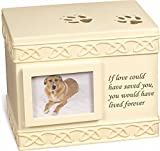"Pet Urn Memorial ""If Love Could Have Saved You..."" - Bottom Opening"