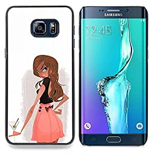 - Cocktail Drink Alcohol Girl Woman Club - - Snap-On Rugged Hard Cover Case Funny HouseFOR Samsung Galaxy S6 Edge Plus
